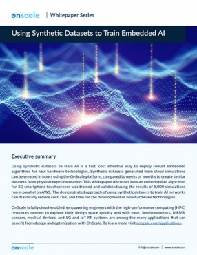 Using Synthetic Datasets to Train Embedded AI